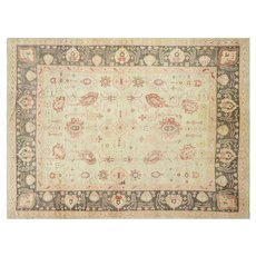 "Contemporary Turkish Oushak Carpet - 10'5"" x 13'11"""