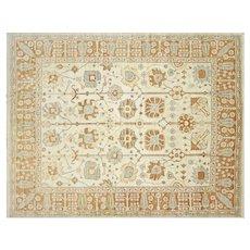"Contemporary Turkish Oushak Carpet - 11'6"" x 14'6"""