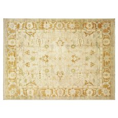 "Contemporary Turkish Oushak Carpet - 11'7"" x 15'9"""