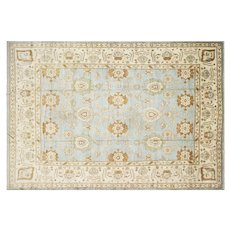 "Contemporary Turkish Oushak Carpet - 11'5"" x 16'10"""