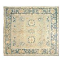"Contemporary Turkish Oushak Carpet - 12'6"" x 13'10"""