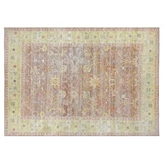 """1980s Egyptian Sultanabad Carpet - 8'9"""" x 12'3"""""""