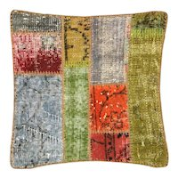"1960s Turkish Patchwork Pillow - 20"" x 20"""
