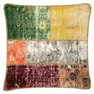 "1960s Turkish Patchwork Pillow - 20"" x 20"""