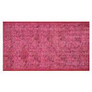 "1960s Overdyed Turkish Isparta Rug - 3'7"" x 6'4"""