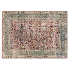 "1930's Persian Mashhad Carpet - 8'2"" x 11'5"""