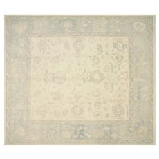 "Contemporary Turkish Oushak Carpet - 12'10"" x 14'8"""