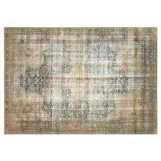 "1940's Persian Kerman Carpet - 8' x 11'10"""