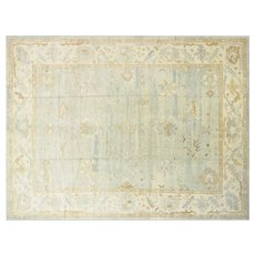 "Contemporary Turkish Oushak Carpet - 12'10"" x 17'3"""