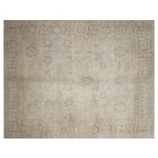"1980s Turkish Oushak Carpet - 9' x 11'5"""