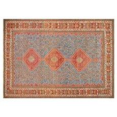"""1950s Persian Qashqai Carpet - 7'3"""" x 10'4"""""""