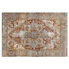 "1920s Persian Heriz Carpet - 7'9"" x 11'4"""