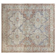 "1930's Persian Baktiari Carpet - 14' x 14'9"""