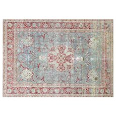 "1940s Persian Tabriz Carpet - 10'1"" x 14'"