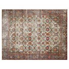 "1940s Persian Tabriz Carpet - 8'10"" x 11'4"""