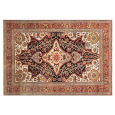 "1920s Persian Malayer Carpet - 6'11"" x 10'"