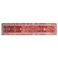 "1960s Turkish Oushak Runner - 2'9"" x 12'10"""
