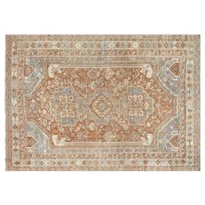 "1920s Persian Shiraz Carpet - ""7'1"" x 10'"