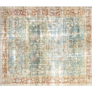"1920's Persian Mahal Carpet - 9'7"" x 11'1"""