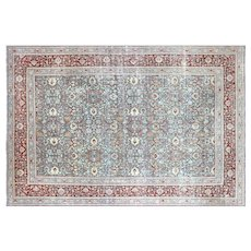 "1940s Persian Tabriz Carpet - 10' x 14'9"""