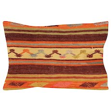 "1960s Turkish Kilim Pillow - 18"" x 24"""
