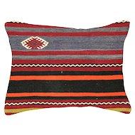 """1960s Turkish Kilim Pillow - 18"""" x 24"""""""