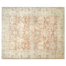 """1980s Egyptian Sultanabad Carpet - 12' x 14'4"""""""