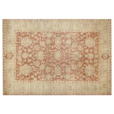"""1980s Egyptian Sultanabad Carpet - 8'10"""" x 12'3"""""""