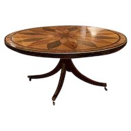 English Mahogany & Satinwood Center Table