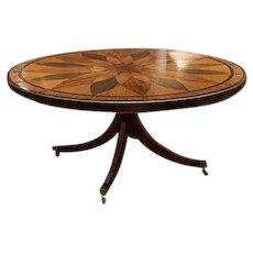 English Mahogany & Satinwood Center Table