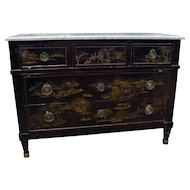 Parisian Dark Lacquered Commode