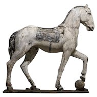 Stunning Large Italian Carved Horse