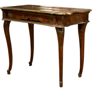 Italian Red Lacquered Dressing Table