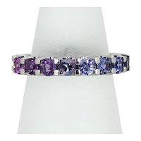 Santorini Rainbow Sapphire Ring in 18ct White Gold