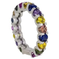 Tutti Fruity Ring in 18Ct White Gold