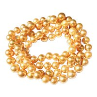 130cm Golden South Sea Pearl Necklace
