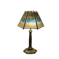 Art Deco Egyptian Revival Pearlined Cellulose Shade