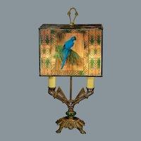 Fabulous Art Deco Parrot Bouliette Lamp