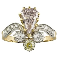 A Turn Of The Century Pink Diamond Ring