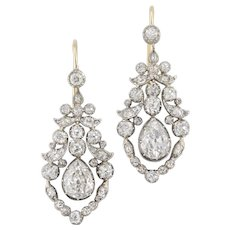 A pair of late Georgian diamond earrings