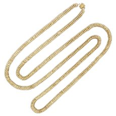 A Victorian Long Yellow Gold Chain