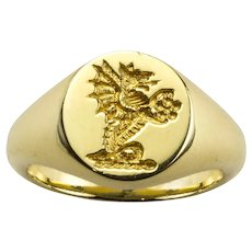 A Yellow Gold Signet Ring