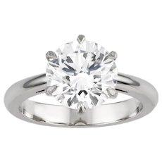 An Important Single Diamond Ring