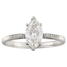 A Single Stone Marquise-cut Solitaire Diamond Ring