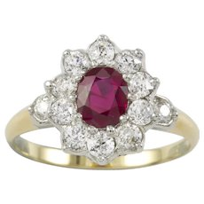 A Ruby And Diamond Cluster Ring By Tiffany & Co.