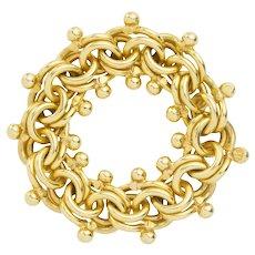 A Handmade 22ct Gold Teddy Bear Ring by Lucie Heskett-Brem