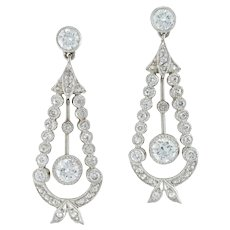 A Pair Of Diamond-set Drop Earrings