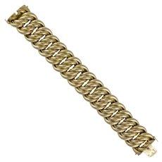 A Yellow Gold Fancy Link Bracelet
