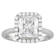 A Radiant-cut Diamond Cluster Ring