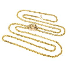 A Victorian Long Chain And Slide